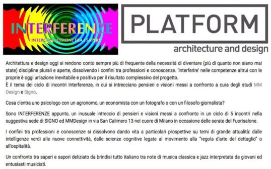 PLATFORM architecture and design